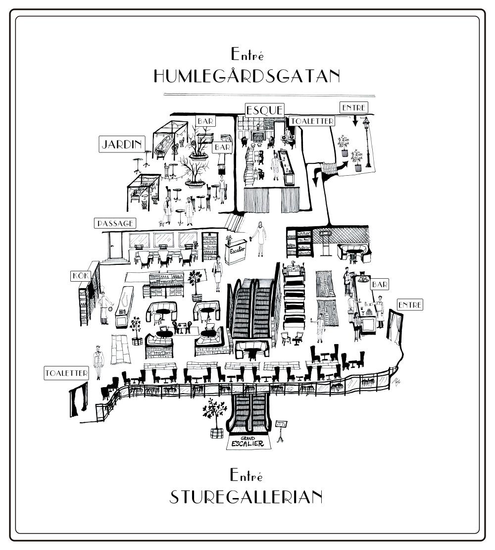 Map, Grand Escalier, Stockholm - Micaela Wernberg